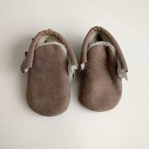 Baby 3-6 Months Beige Moccasins Slippers